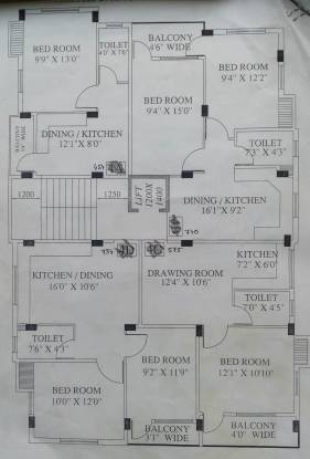 Siddhi Vinayak Apartment 5 Cluster Plan