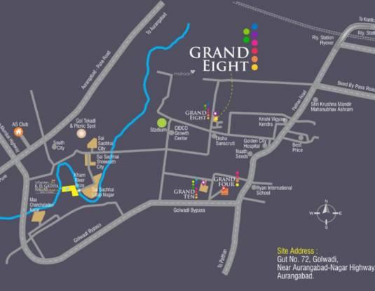Gadiya Grand Eight Location Plan