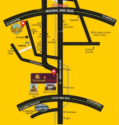 SLN Srinivasa Nilaya Location Plan