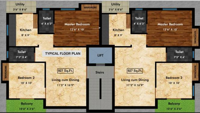 VIP Castle Anugraha Gated Community Apartments Cluster Plan