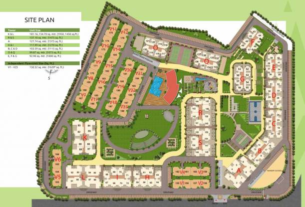Gaursons 16th Park View Independent Floors Site Plan