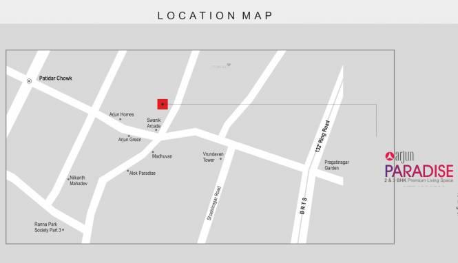 Suhani Arjun Paradise Location Plan