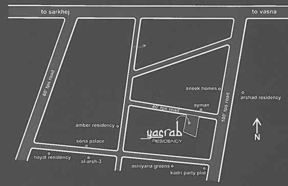 Unity Yasrab Residency Location Plan
