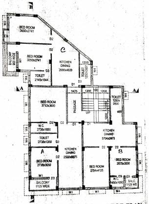 Venesis Shibani Apartment 5 Cluster Plan
