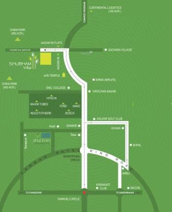 Shubh Shubham Villa Location Plan