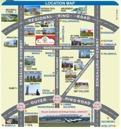 sri-village-villa-plots-kollur Location Plan