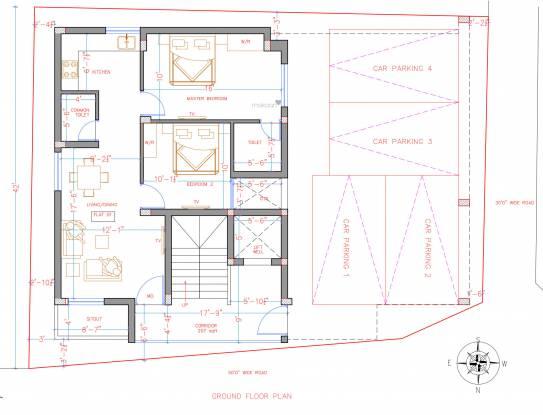 renukas-pride Renukas Pride Cluster Plan for ground Floor