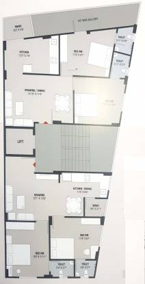 geeta-apartments Geeta Apartments Cluster Plan from 1st to 5th Floor