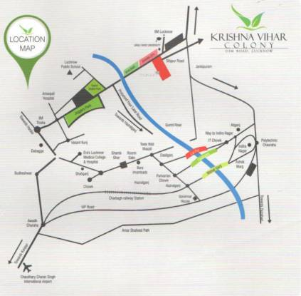 vihar-colony Location Plan