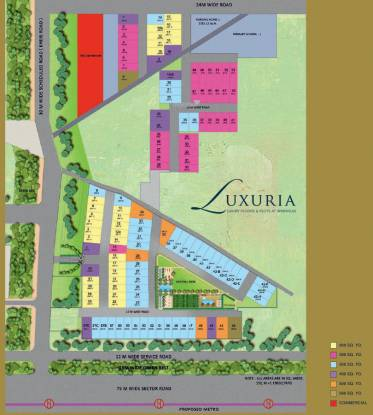 luxuria-floors Site Plan