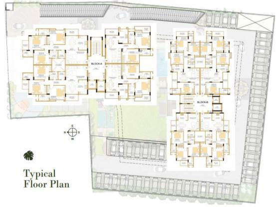 the-palm Block A and B Cluster Plan for ground Floor