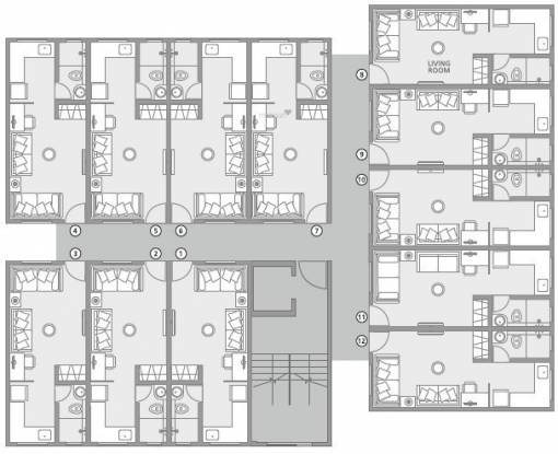 homes Gabadia Homes Cluster Plan from 1st to 6th Floor