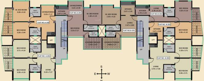glory A Wing And B Wing Cluster Plan for 2nd Floor