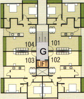 residency Block G Cluster Plan  From 1st To 3rd Floor