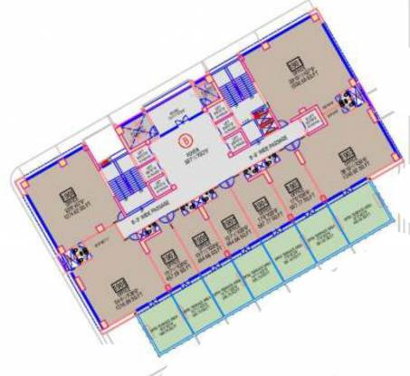sharda-harmony Block A And B Cluster Plan For 19th Floor