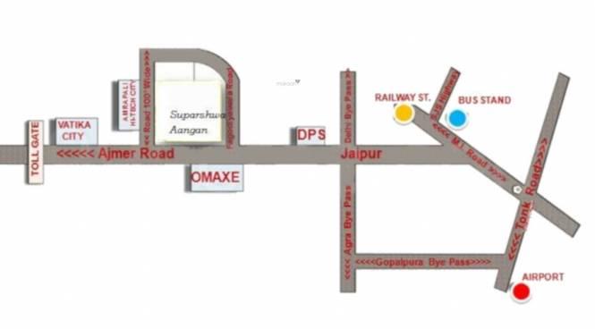 suparshwa-aangan-phase-ii Location Plan