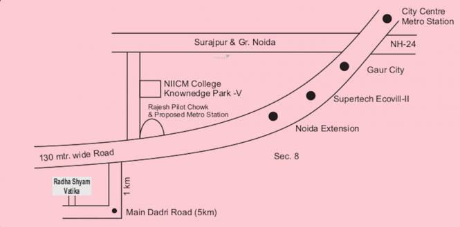 om-shri-m-k-developers-villas Location Plan
