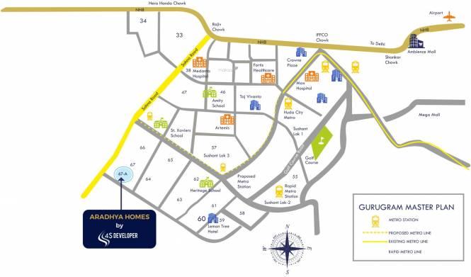 aradhya-homes Location Plan