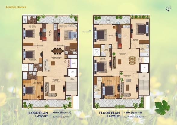 aradhya-homes-apartment Aradhya Homes Cluster Plan