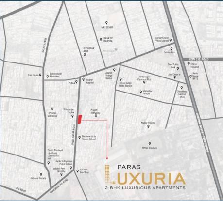 luxuria Location Plan