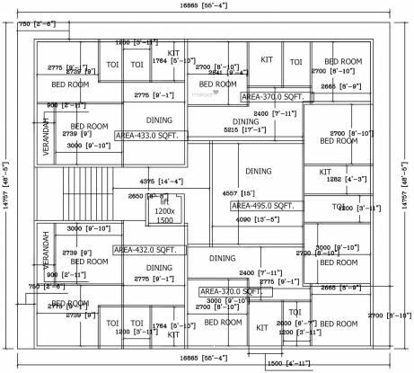 santi-nivas Santi Nivas Cluster Plan from 1st to 5th Floor
