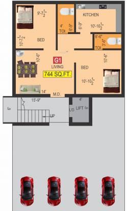 advaita Advaita Cluster Plan For Ground Floor