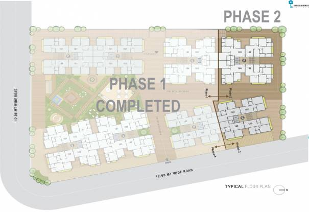 shree-lakshminarayan-residency-phase-2 Block F And Bloack G Cluster Plan from 1st to 7th Floor