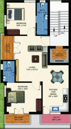 dakshin Dakshin Cluster Plan From 1st To 3rd Floor