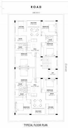 vilasam Vilasam Cluster Plan from 1st to 3rd Floor