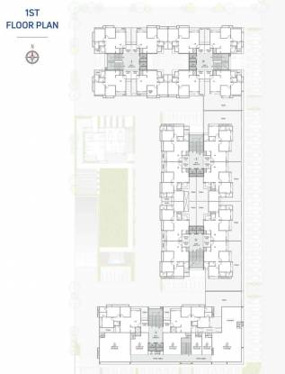 anand-skylyf Tower A, B, C, D And E Cluster Plan for 1st Floor