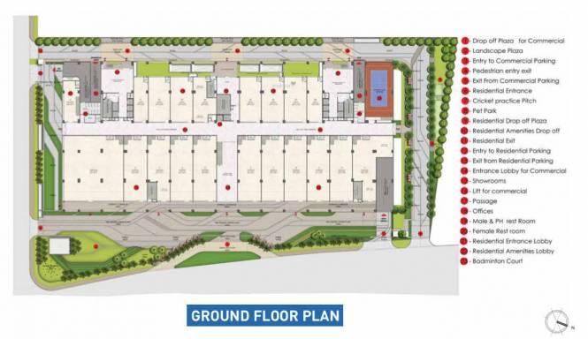 avante Kalpataru Avante Cluster Plan for Ground Floor