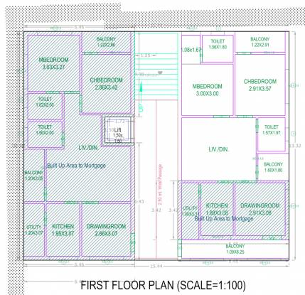 omkar-heights Omkar Heights Cluster Plan from 1st to 5th Floor
