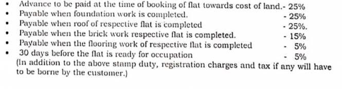 jayaram-flats Construction Linked Payment (CLP)