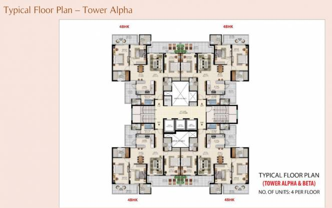 orion Tower Alpha And Beta Cluster Plan for Typical Floor