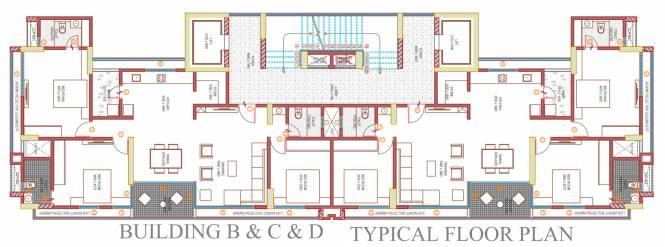 felicia-2 Tower B, C And D Cluster Plan from 1st to 13th Floor