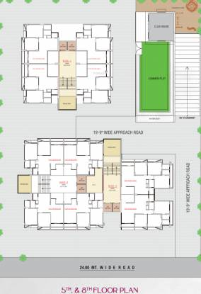 madhuram-blossom Block A+B Cluster Plan from 5th to 8th Floor