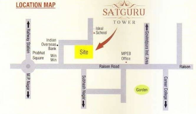 satguru-tower Location Plan