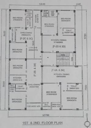 anil-nibas Anil Nibas Cluster Plan From 1st To 2nd Floor