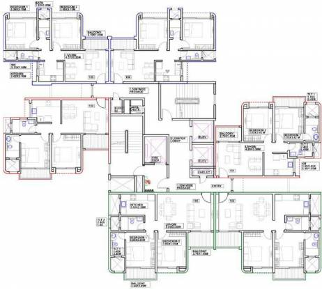 riverdale-grove B6,B7,B8 Cluster Plan For Typical Floor