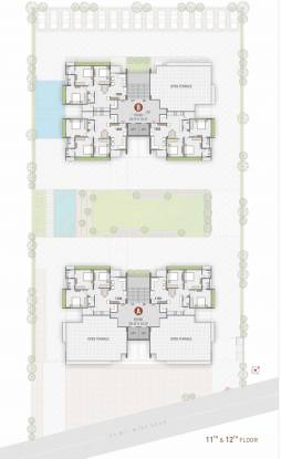 greens Tower A And B Cluster Plan from 11th to 12th Floor
