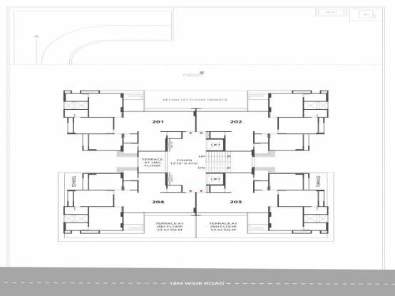 satatya-syril Satatya Syril Cluster Plan for 2nd Floor