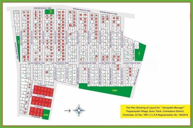 ganapathy-maanagar Location Plan