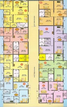 airport-residency Airport Residency Cluster Plan From 1st To 5th Floor