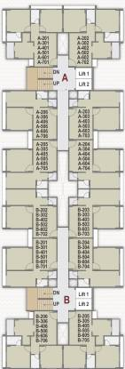 ganesh-vatika Tower A & B Cluster Plan from 1st to 7th Floor