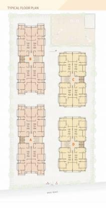 gunjan-flat Block A B, C & D Cluster Plan from 1st to 7th Floor