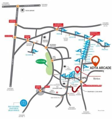 adya-arcade-villa Location Plan
