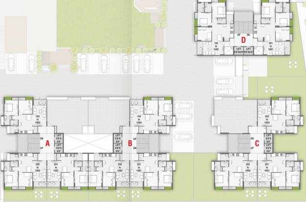 elite Block A,B,C,D Cluster Plan For 11th Floor