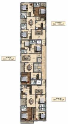 satvika-sai-kalpaka Satvika Sai Kalpak Cluster Plan From 1st To 2nd Floor