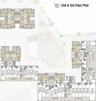 elanza Block A,B,C,D Cluster Plan From 2nd To 3rd Floor