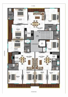 god-gift-appartment Cluster Plan
